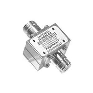 UHF/VHF PolyPhasor Lightning Arrestor with DC Block (125-1000 MHz)