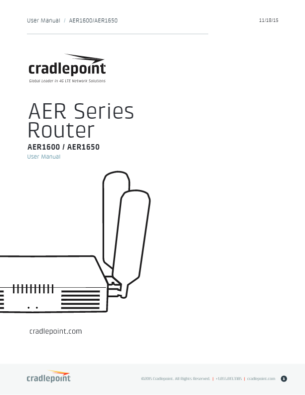 Cradlepoint AER1600 User Manual | dcitech com