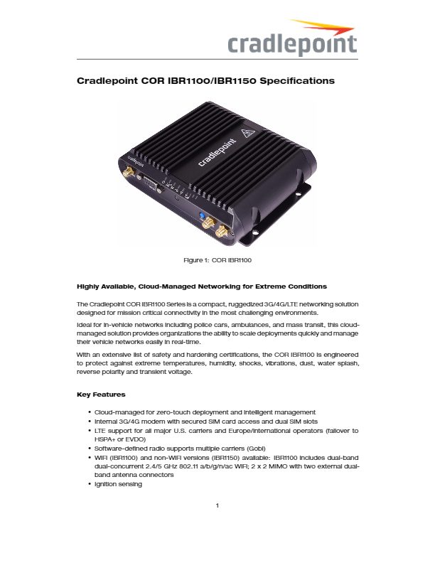 CradlePoint IBR650 Manual | dcitech com